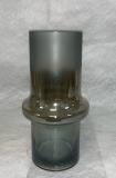 Vase geschliffenes Rauchglas